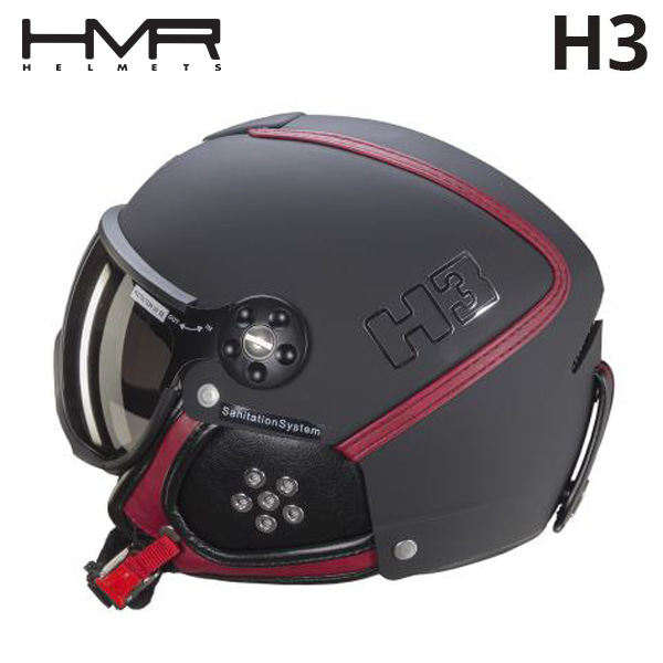 일체형헬멧 1718 HMR H3 233 BLK/BORDEAUX LEATHER