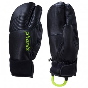 스키장갑 1516 PHENIX TRI-FINGER LEATHER GLOVE-BK 삼지장갑