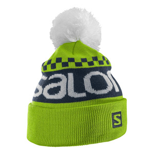 살로몬 비니 SALOMON FREE BEANIE GRANNY GREEN/BIG BLUE-X