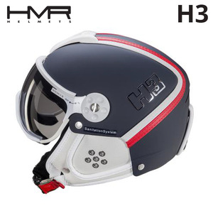 햄머헬멧 1718 HMR H3 253 BLUE/RED&WHITE LEATHER