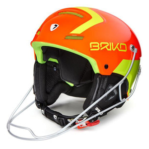 1718 브리코 헬멧 SLALOM YELLOW FLUO ORANGE FLUO