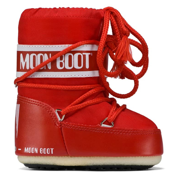 아동 문부츠 MOON BOOT MINI NYLON RED