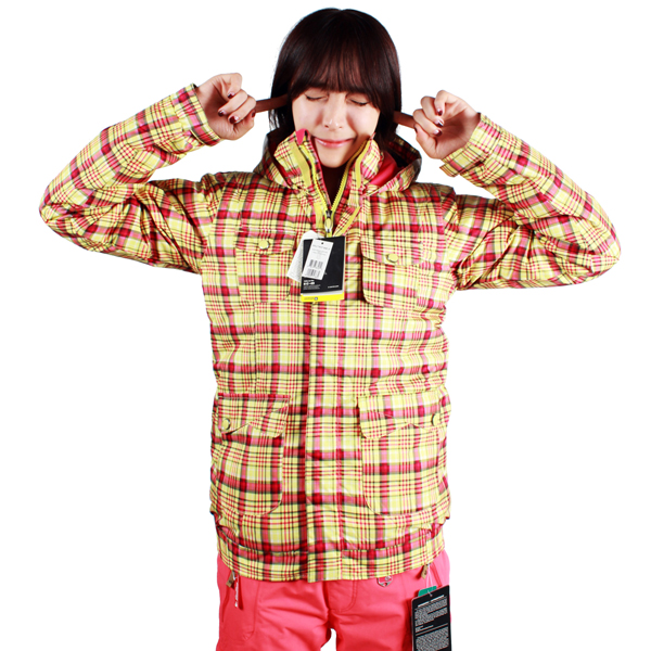 버튼 보드복 BURTON Girls Twist BMR JKT Funshine Candy Plaid 여성 보드자켓