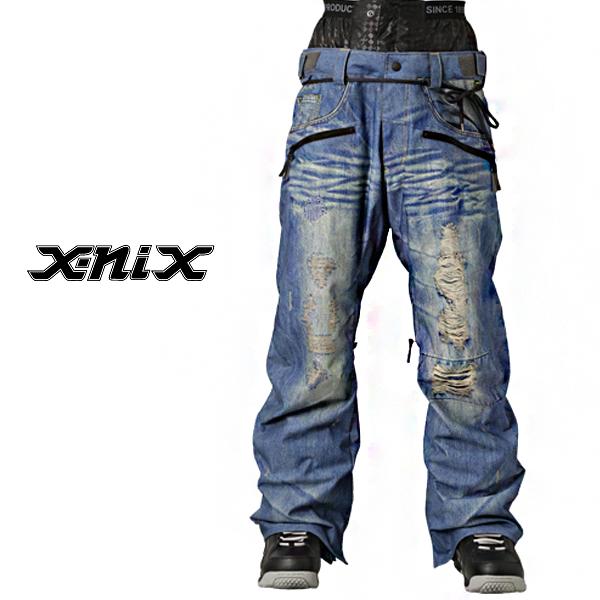 엑스닉스 보드복 14/15 X-NIX X-Real Denim Print Pants 보드바지 데님보드복